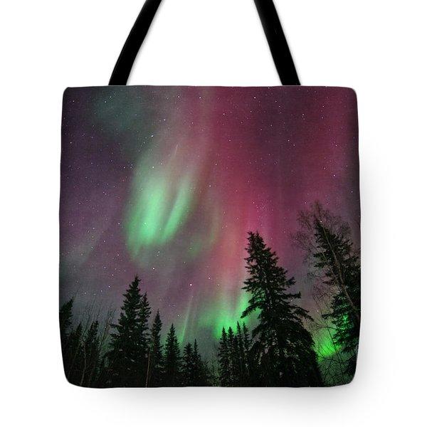 Glowing Skies Textured Tote Bag by Priska Wettstein