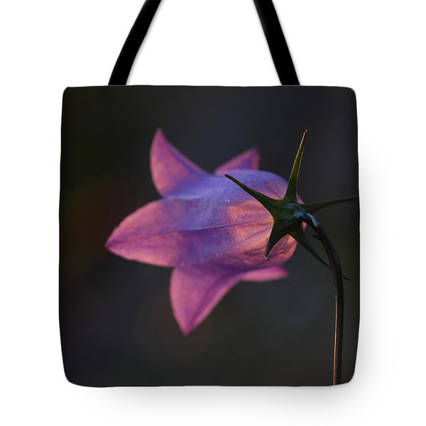Glowing Sunset Flower Tote Bag