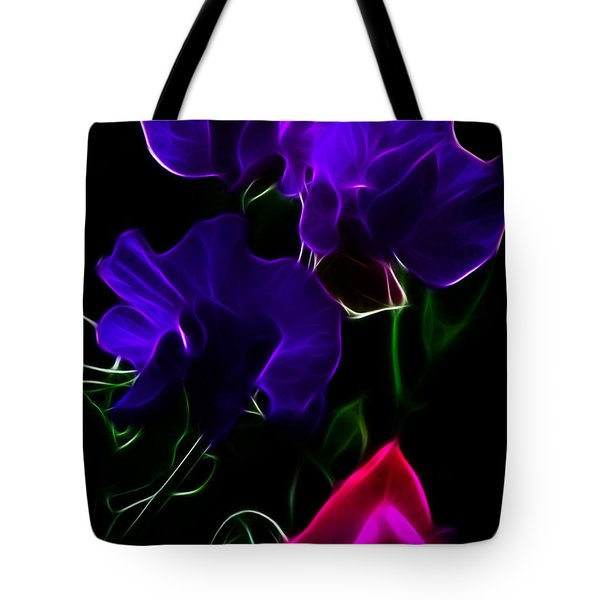 Glowing Sweet Peas Tote Bag