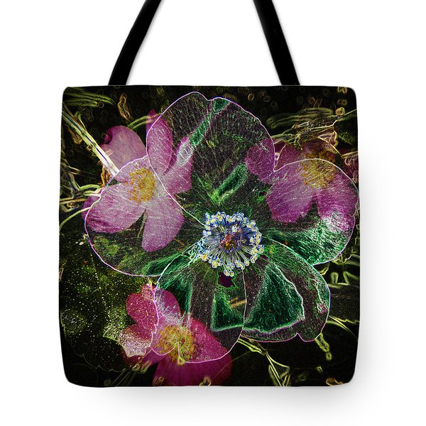 Glowing Wild Rose Tote Bag