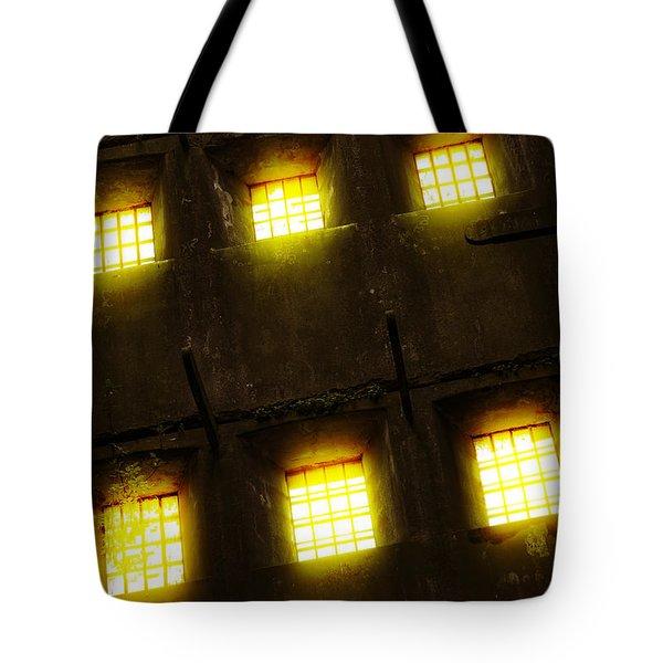 Glowing Windows Tote Bag