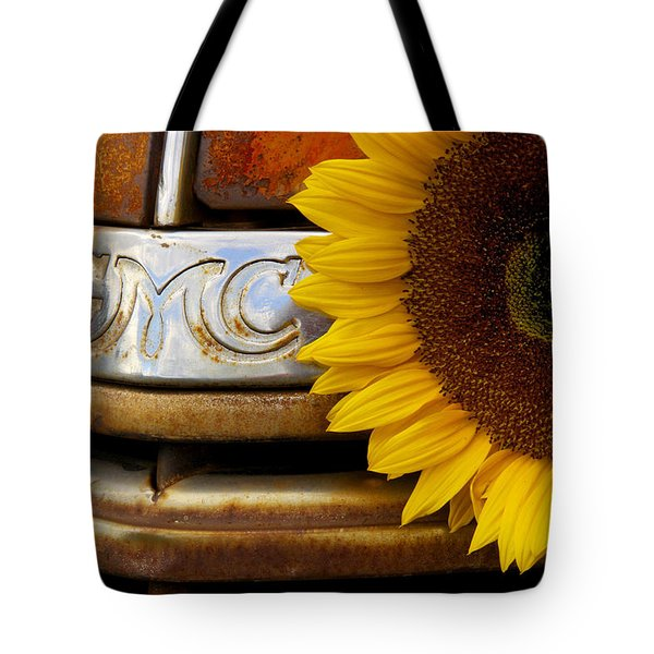 Gmc Sunflower Tote Bag by Steven Bateson