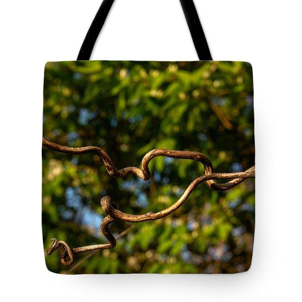 Gnarled Plant Tendrils Tote Bag by Douglas Barnett