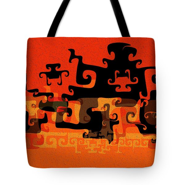 Gnarly Silhouette Parade Tote Bag