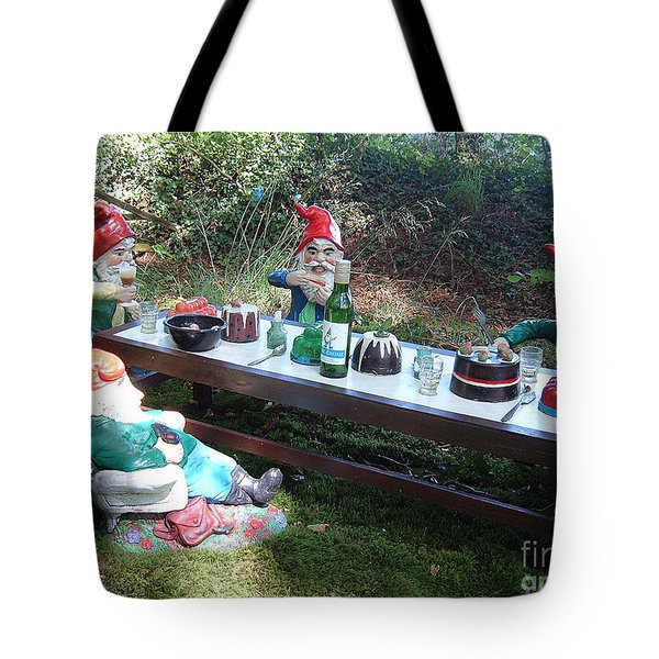 Gnome Cooking Tote Bag by Richard Brookes