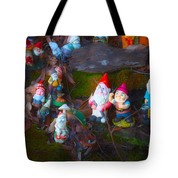 Tote Bag featuring the photograph Gnomes On The Range by Cassandra Buckley