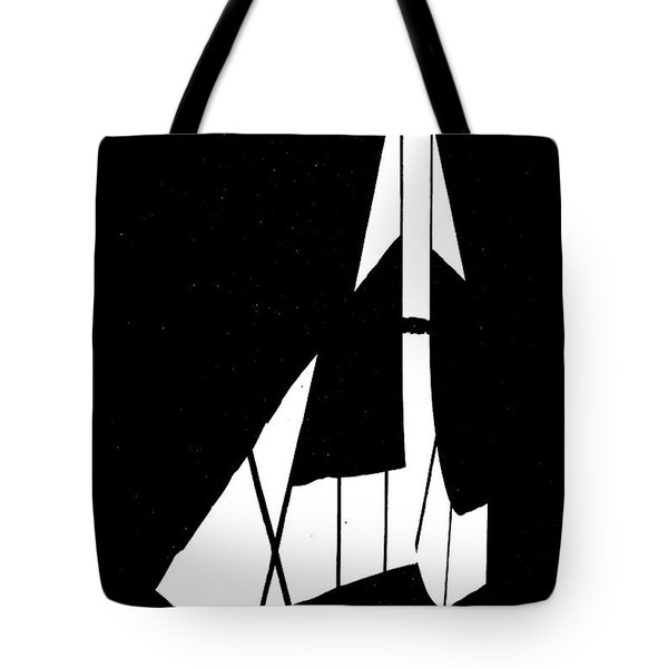 Go Back Or Go Left Tote Bag by Bob Orsillo