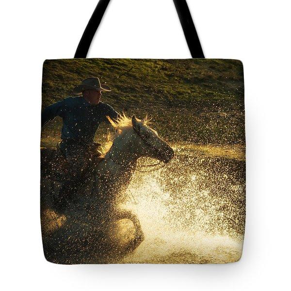 Go Cowboy Tote Bag by Ana V Ramirez
