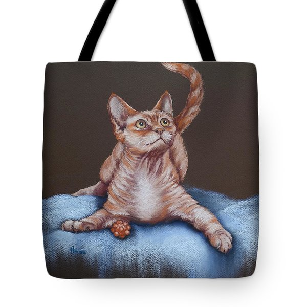 Tote Bag featuring the painting Go On Throw It Again by Cynthia House