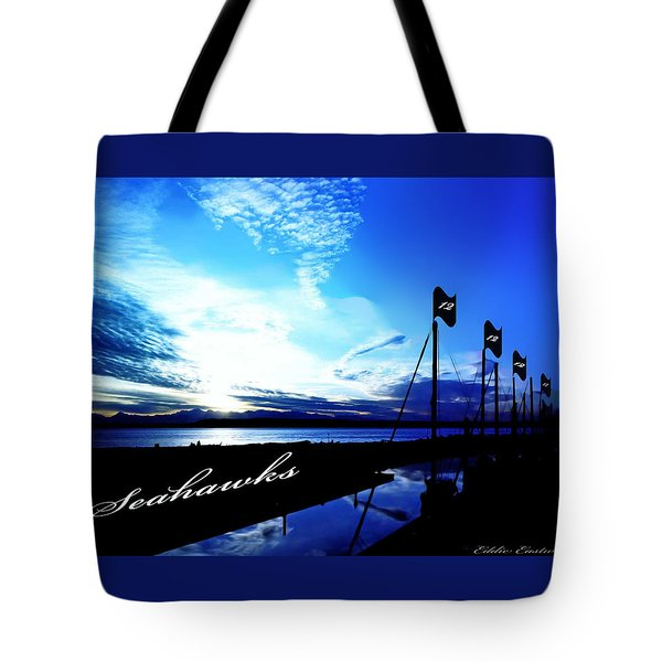 Tote Bag featuring the photograph Go Seahawks by Eddie Eastwood