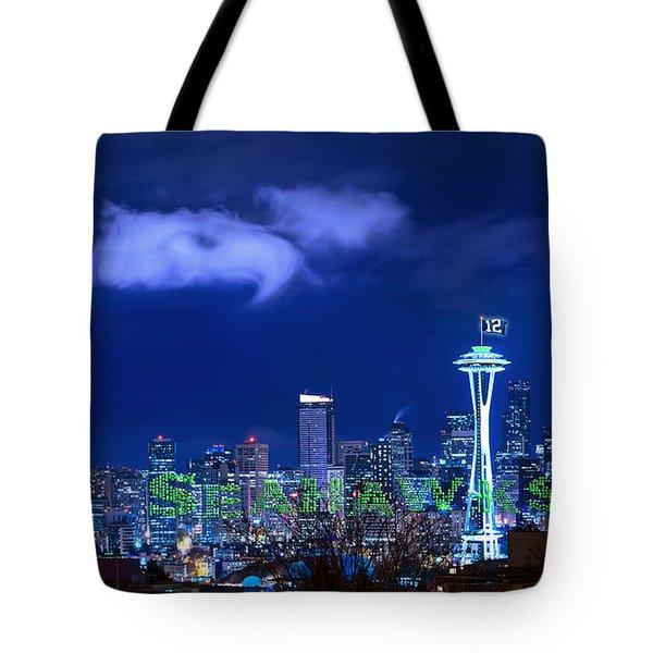 Go Seahawks Tote Bag by Lori Grimmett