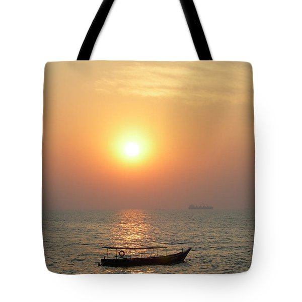 Goa Sunset Tote Bag by Mini Arora