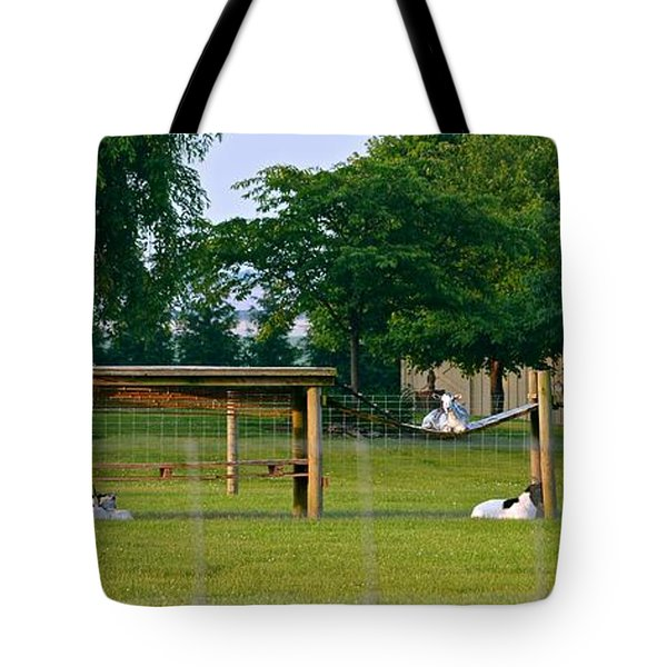 Goat Playground Tote Bag