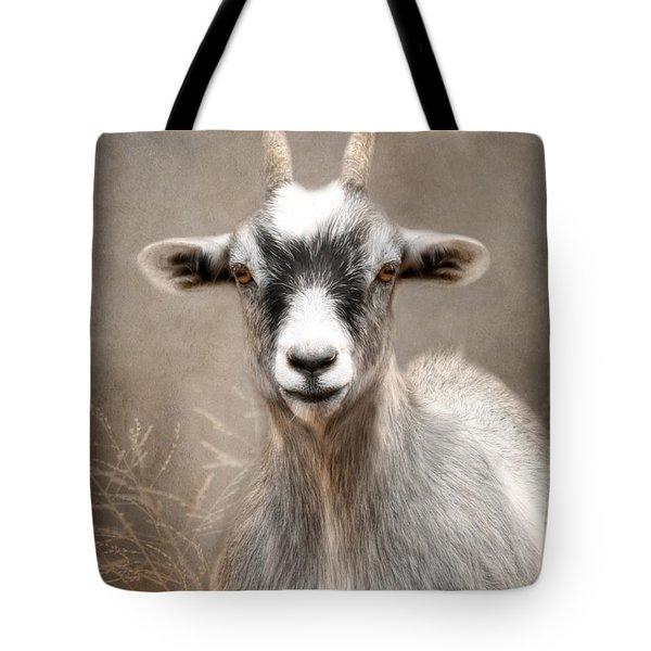 Goat Portrait Tote Bag by Lori Deiter