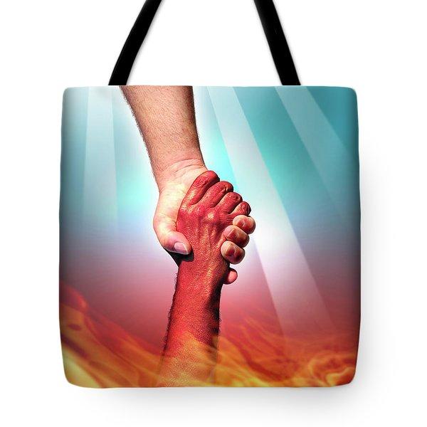 God And Devil Tote Bag by Carlos Caetano