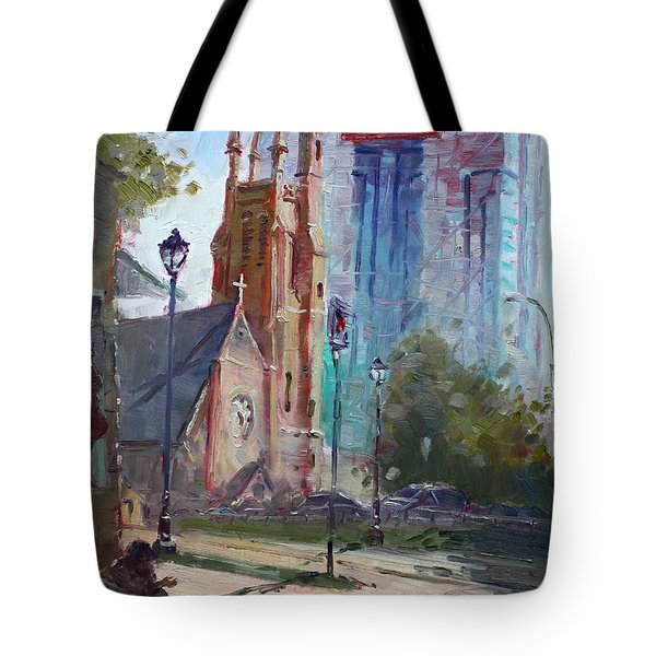 God And The Devil And I Tote Bag by Ylli Haruni