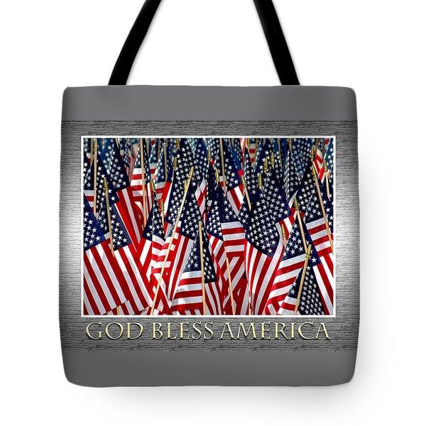 God Bless America Tote Bag by Carolyn Marshall