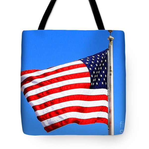 Tote Bag featuring the photograph God Bless America by Judy Palkimas