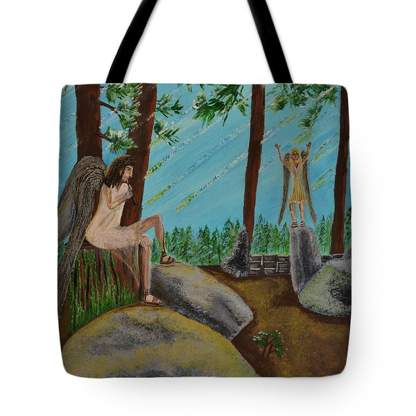 God Calls His Angels Tote Bag