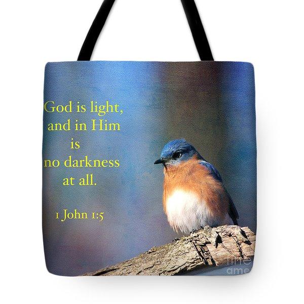 God Is Light Tote Bag by Olivia Hardwicke
