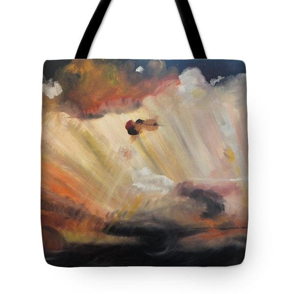Tote Bag featuring the painting God Is Truly Mighty by PainterArtist FIN