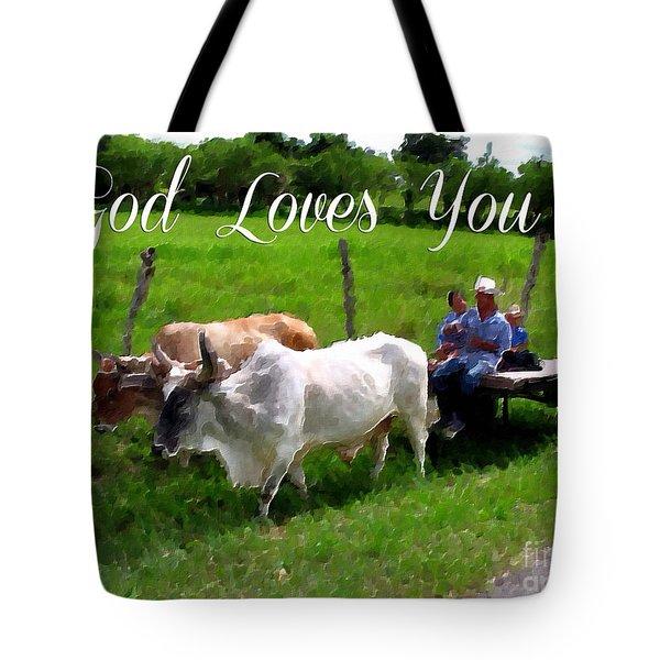 God Loves You Tote Bag