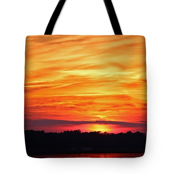 God Paints The Sky Tote Bag by Cynthia Guinn