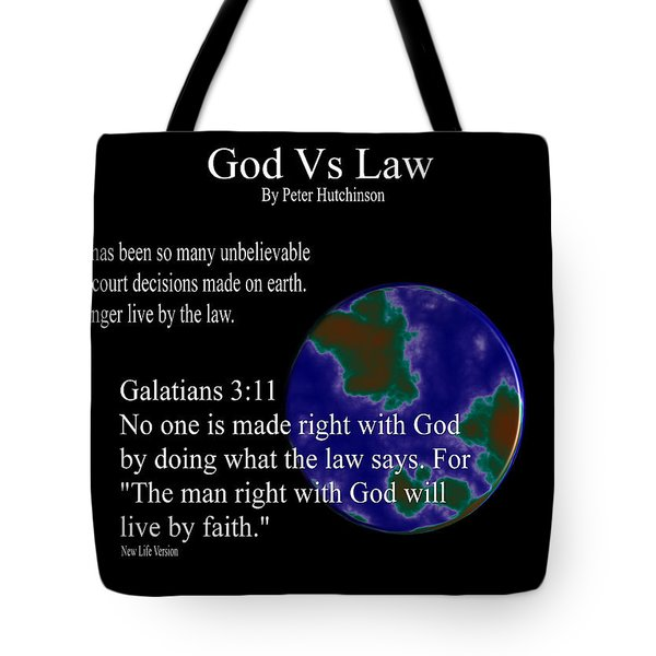 God Vs Law Tote Bag