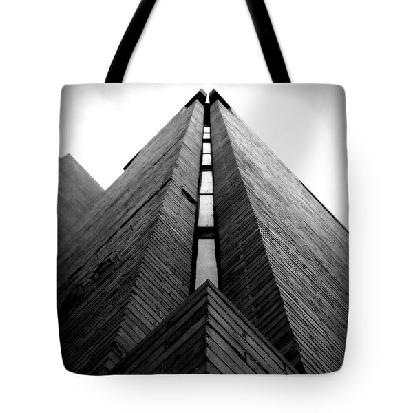 Goddard Stair Tower - Black And White Tote Bag by Joseph Skompski