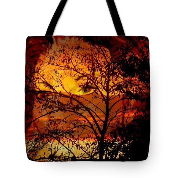 Goddess At Sunset Tote Bag