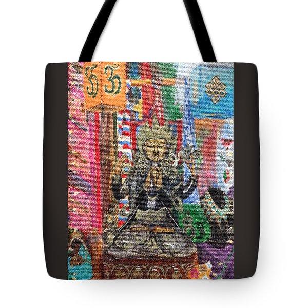 Buddha Goddess Tote Bag by Chrissey Dittus