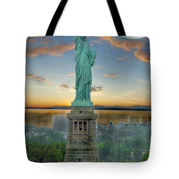 Goddess Of Freedom Tote Bag by Gary Keesler