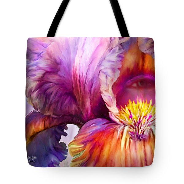 Tote Bag featuring the mixed media Goddess Of Insight by Carol Cavalaris
