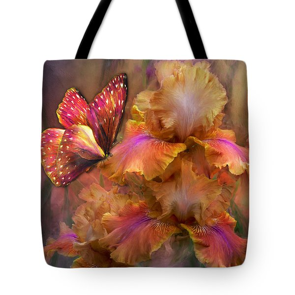 Goddess Of Sunrise Tote Bag by Carol Cavalaris