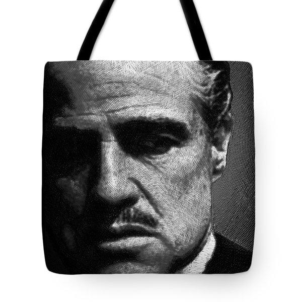 Godfather Marlon Brando Tote Bag by Tony Rubino