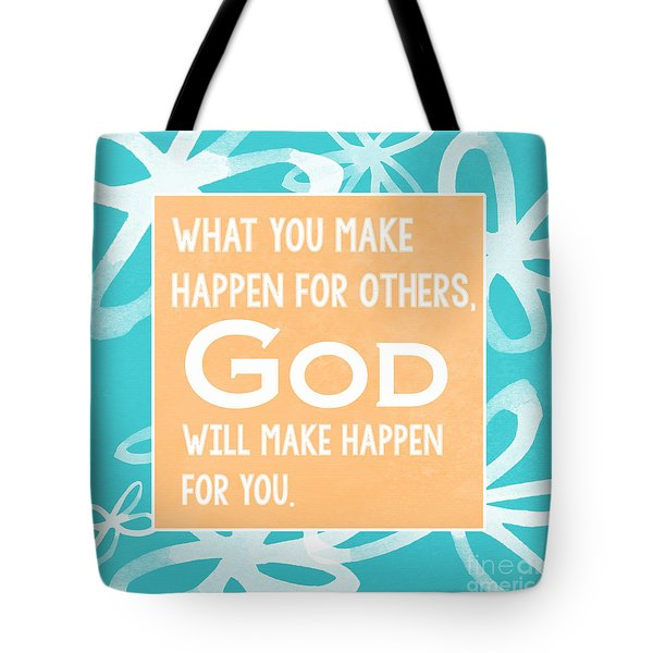 God's Gift - Blue Tote Bag by Linda Woods