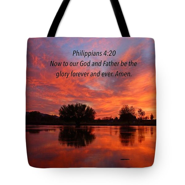 God's Glory Tote Bag