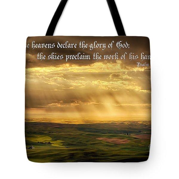 God's Hands At Work Tote Bag