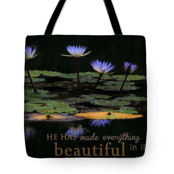 Peace Of Mind With Message Tote Bag