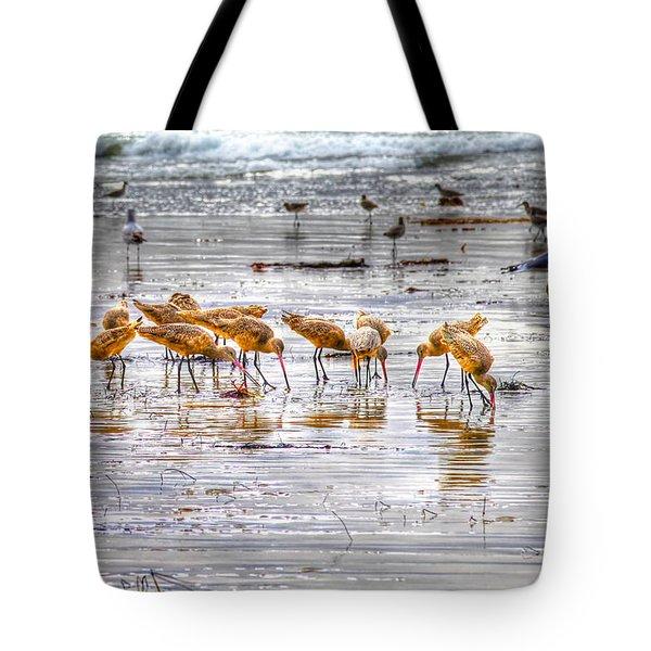 Godwits At San Elijo Beach Tote Bag