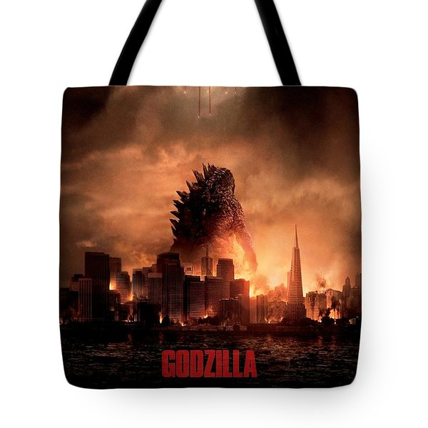 Godzilla 2014 Tote Bag by Movie Poster Prints