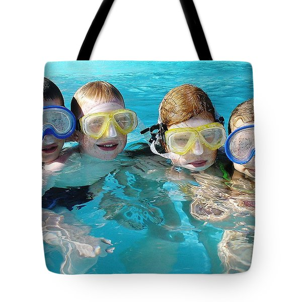 Tote Bag featuring the photograph Goggle Eyed Quartet by David Nicholls