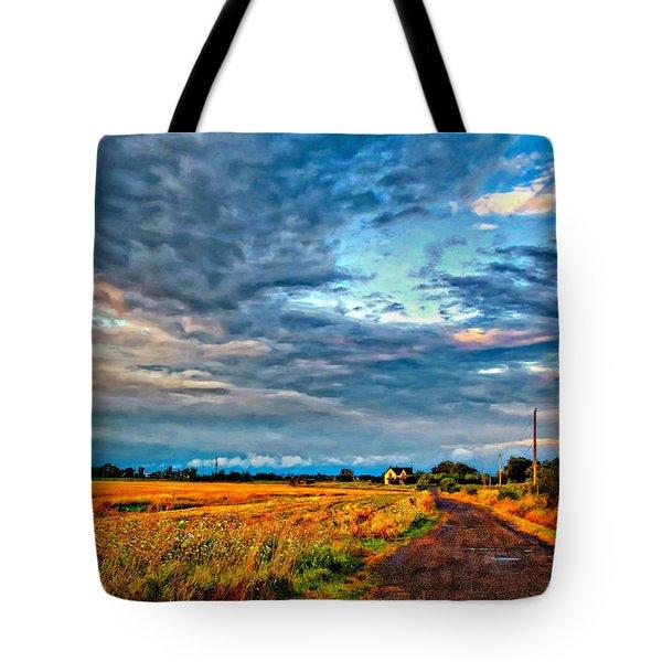 Goin' Home Oil Tote Bag by Steve Harrington