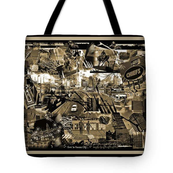 Goin' To Kansas City - Grunge Collage Tote Bag by Ellen Tully