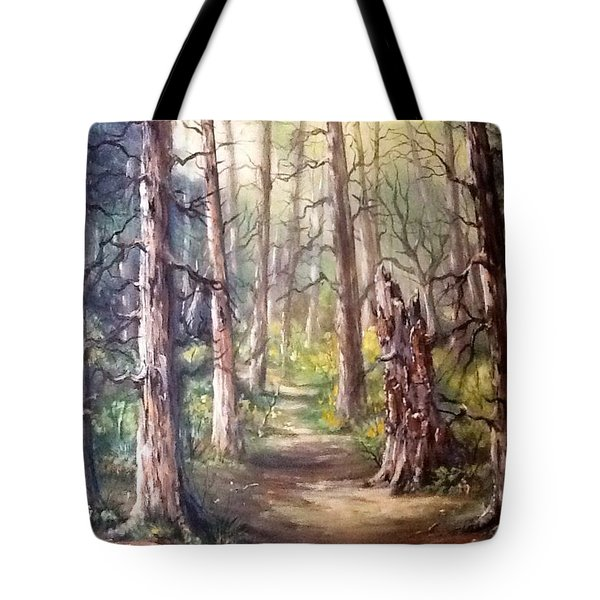 Tote Bag featuring the painting Going For A Walk by Megan Walsh