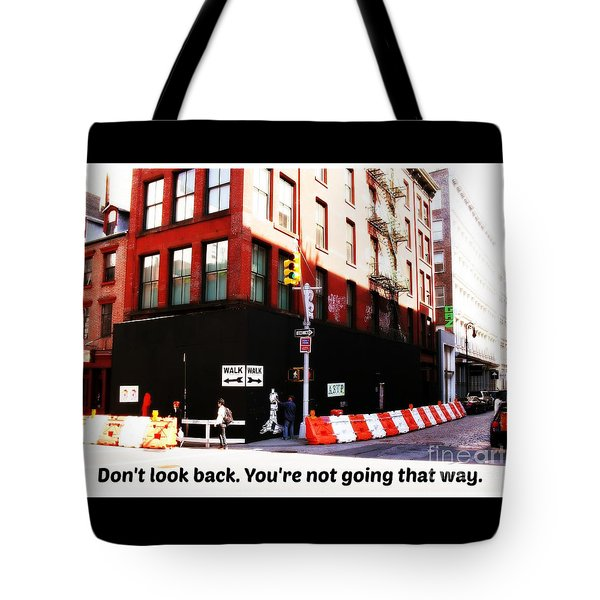 Going Forward Tote Bag