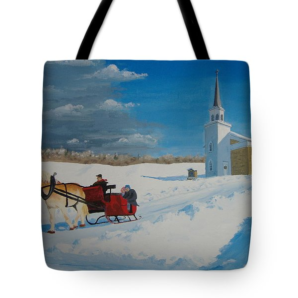 Going Home From Church Tote Bag by Norm Starks