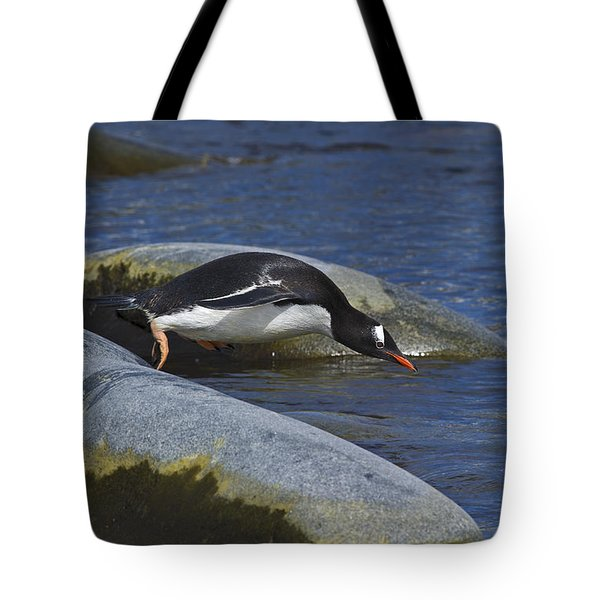 Going In.. Tote Bag by Nina Stavlund