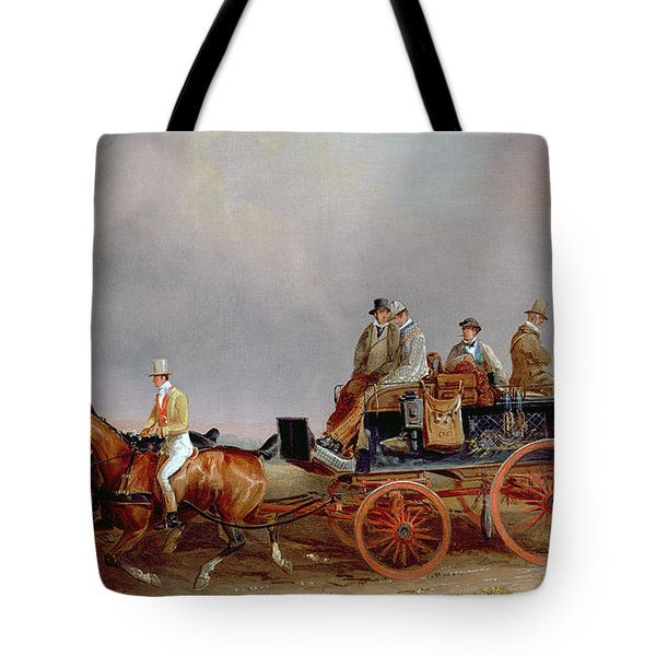 Going Shooting A Postillion And Pair With A Game Cart Tote Bag by Charles Cooper Henderson