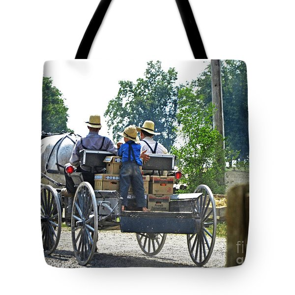 Going To Market Tote Bag by Paul Mashburn